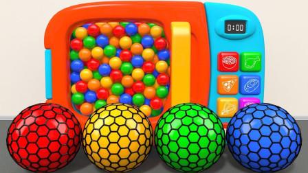 益智英�Z�焊�赢�:神奇的微波�t里藏著彩色足球