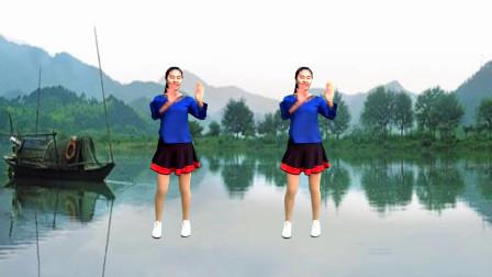 简单易学广场舞《山不转水转》那英演唱,歌曲动听,动作简单好学