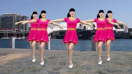 水橋精選唯美廣場舞《水月亮》歌甜人美,簡單好看好學!