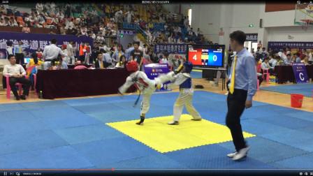 高手是怎么打跆拳道竞技比赛 21秒击败对方16分比0分