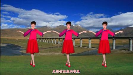 藏族天籁之音《拉萨夜雨》新手入门32步民族舞,简单优美,附分解
