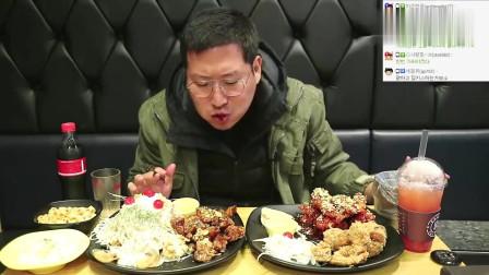 《韩国农村美食》糖醋鸡块+炸鸡腿,吃起来直竖大拇指