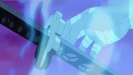 《海贼王》索隆随意试了一下自己的新刀黑刀秋水,威力大到自己都吓到了