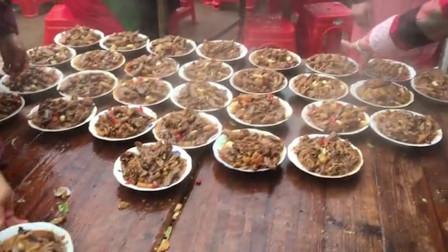 农村的喜宴,看看这些美食,觉得赶多少礼钱合适?