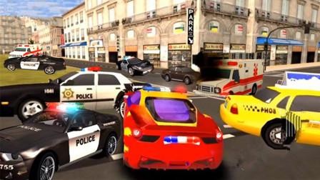 城市街头汽车追逐赛