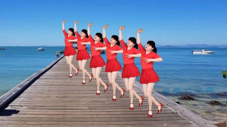 广场舞精选《情路弯弯》简单32步,形体拉伸健身舞,好看好学