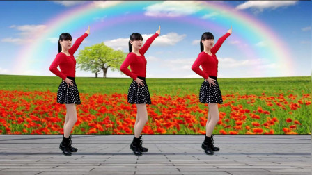 经典红歌《映山红》DJ版广场舞,步伐欢畅,简单好看更好听!