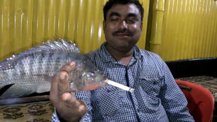 奇葩老外为了做实验,抓住一条鱼让它吸烟,一口气连抽10根!