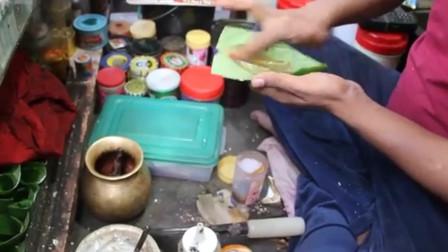 美食:印度老板的手艺无人能及,叶子做成燃烧的小吃,还能清新口气