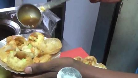 印度传统美食,实拍印度人怎么做小吃?中国小伙表示吃不下!