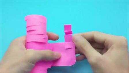 创意手工:折纸会走路的机器人,男孩子一定喜欢,手工作业