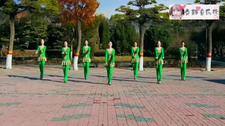 广场舞《梦中的胡杨》,舞蹈简单优美,歌曲时尚好听,一起学学吧