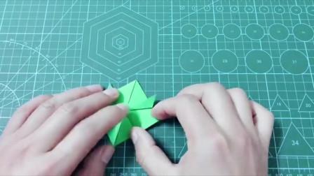 创意手工:折纸会跳的小青蛙,满满的童年回忆