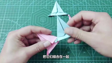 创意手工:折纸不一样的飞镖玩具,简单又好玩