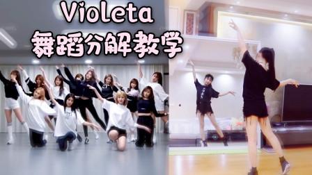 【紫嘉儿】IZONE-Violeta-舞蹈分解教学-镜面教程