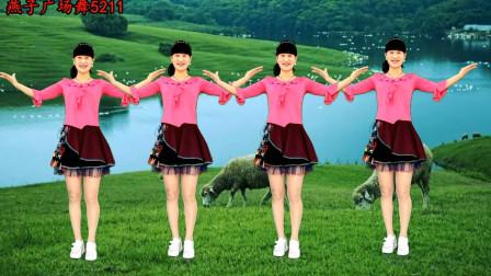 养眼藏族舞《心花开在草原上dj》广场舞 简单大气,多看几遍你也会跳!