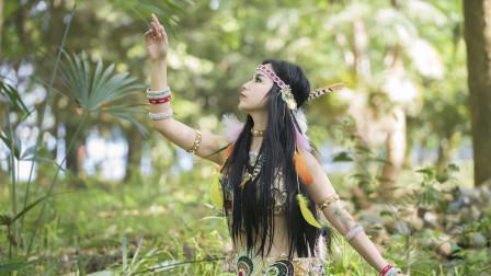 最新东方舞视频 美女森林跳民族舞做守护神