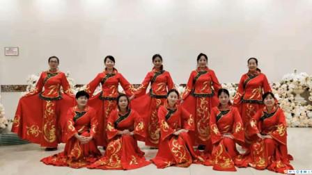 集体广场舞 樱桃舞团红红火火大中华舞蹈视频