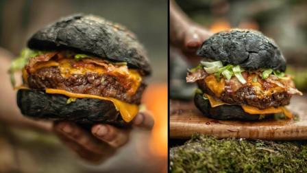 """荒野美食:男子在深山做""""眼镜蛇汉堡"""",全程真是开眼界了"""
