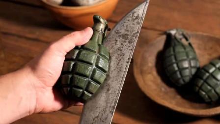 男子用刀切开手雷,不仅没有爆炸,还顺手将它做成一道美味佳肴