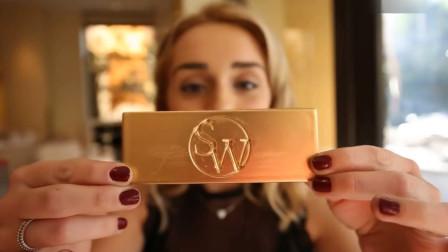黄金制作的巧克力你吃过吗?小姐姐:完全是在吃钱啊