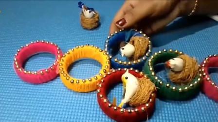 椰纤维装饰挂件的制作方法,简单又有创意!