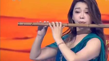 经典竹笛独奏《梦驼铃》,竹笛女神唐俊乔演奏,美轮美奂!精彩!