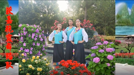 点击观看《初级入门藏族舞梦见你的那一夜 获嘉艳霞舞蹈队习舞视频》