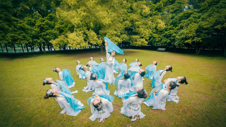 中国舞浣纱歌 绸扇舞真美