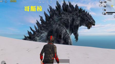 和平精英:玩家在山顶偶遇哥斯拉?身材高大,还张着血盆大口!