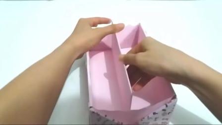 用纸板做的-华丽的文具包装盒