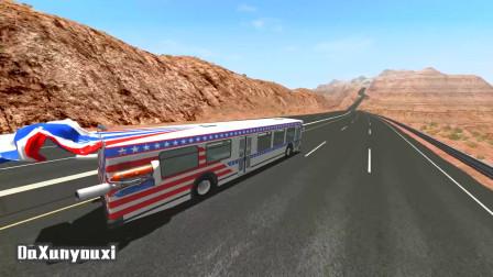 车祸模拟器:高速路尽头遇到破胎器,这些车该何去何从?