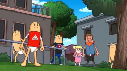 """搞笑吃鸡动画:香肠岛遭遇""""外星人""""攻击,霸哥的反击让萌妹崇拜不已!"""