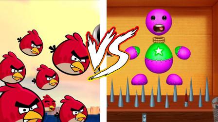 迷你君我的世界 木偶人VS愤怒的小鸟,结果如何?