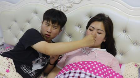 妻子睡觉打呼噜,老公实在受不了折磨,没想竟使出这损招对付老婆