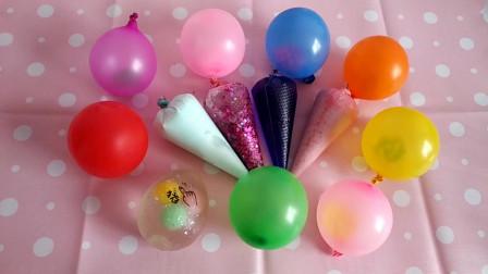 剪爆4个裱花袋8个气球和捏捏乐玩具来做泥,无硼砂,最后结果如何