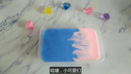 自制无硼砂护理液充气冰山泥,简单几步做出来,手感柔软像棉花泥
