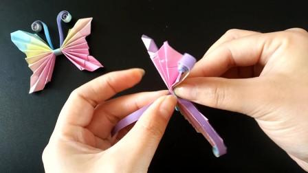 一张纸教你折出立体蝴蝶,做法简单关键漂亮,手工折纸视频教程