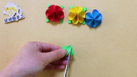 简单几步做出的小花,用于装饰贺卡或礼物盒很合适