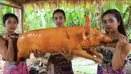 用海鲜来烤乳猪,这是什么烤法,越南特色美食让人隔着屏幕滴口水