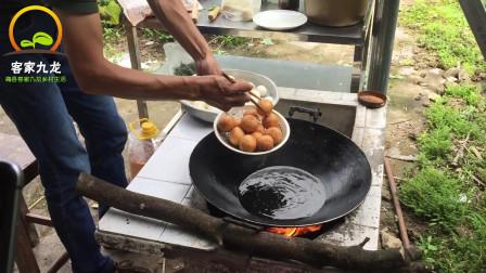 广东客家传统美食,煎圆软糯香甜,方法筒单易学