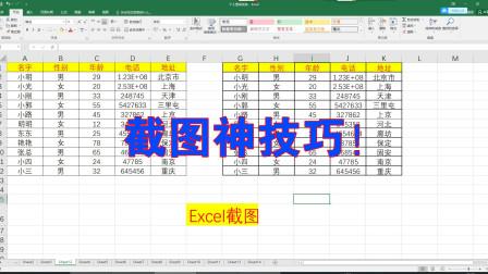 Excel办公高级技巧,如何截图的方法,超级简单,办公实用知识!