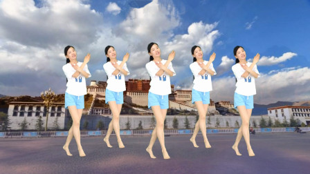 广场舞《布达拉宫》简单好学32步步子舞!