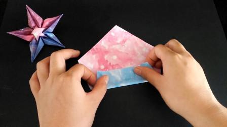 可以许愿的星星折纸,星星这样折比花还美,关键简单看完就会!