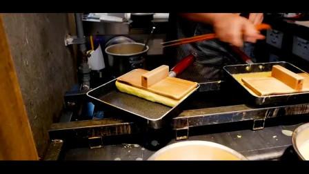 韩国街头美食——芝士鸡蛋三明治 这是鸡蛋砖嘛?