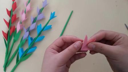 创意手工:简单的立体折纸花,折几朵摆在桌子上太漂亮了,手工视频教程