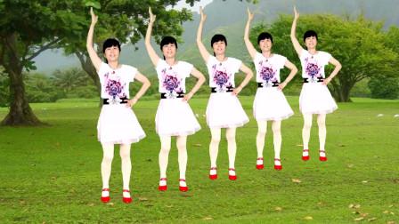 广场舞《粉红色的回忆》歌甜舞美,好听又好看,32步附分解