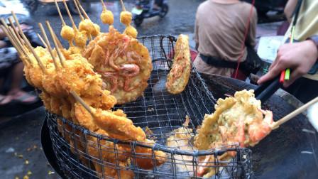 实拍湛江街头炸虾饼,从小吃到大的美食,正宗家乡风味