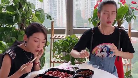 祝晓晗闺蜜:吃货闺蜜请吃小龙虾,姑娘内心却不爽到极点