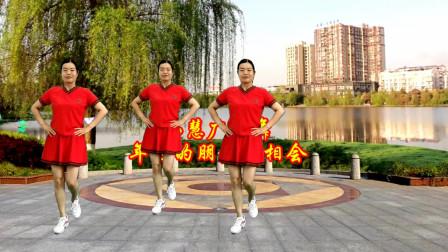 点击观看《零基础28步广场舞教学年轻的朋友来相会 小慧手把手教》
